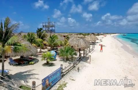 Sonne genießen - Strandhütte auf eine überdachte Patio
